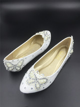 Spring Time Wedding Flats Shoes/Bridal Dance Shoes/Beach Wedding/Ballet ... - $38.00