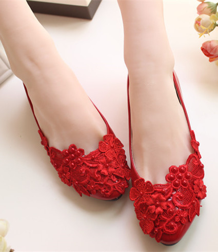 9a1410bc693 Red Wedding Flats Shoes Bridal Dance and 50 similar items