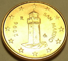 Gem Unc San Marino 2006 One Euro Cent~Minted In Rome~Awesome Tower~Free ... - $3.32