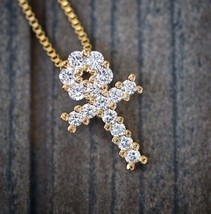 HIP HOP ANKH PENDANT WITH BOX CHAIN NECKLACE - $15.46