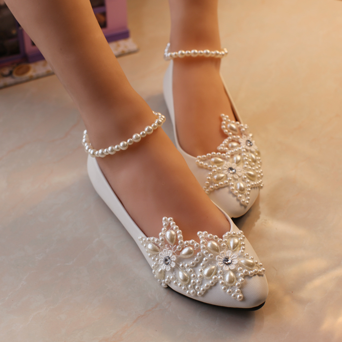 Primary image for Ivory Lace Wedding Shoes/Extra Wider Wedding Shoes/Bridal Shoes US Size 12/1/4/3