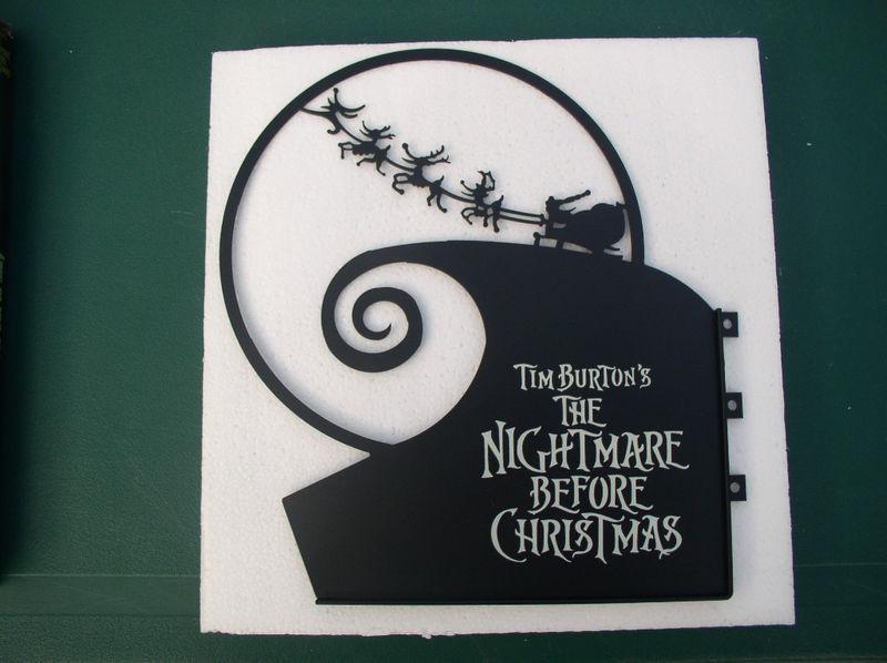 Tim Burton Nightmare Before Christmas Jack Santa Metal Sign Set Out to Slay