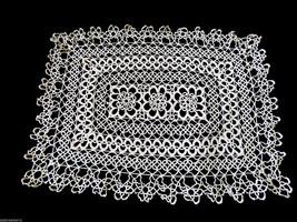 VTG Ecru Crochet Lace Table  Doily Lace Center Mat Dresser  Decor - $34.65