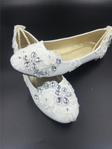 Spring Wedding Shoes/Spring Bridal Flats Shoes/Bride Shoes/Bridesmaids S... - $38.00