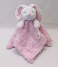 Blankets and Beyond Pink Bunny Security Blanket Swirls Pacifier Holder L... - $71.40 CAD