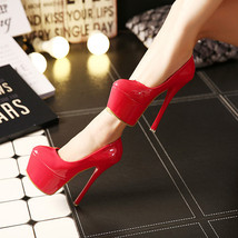 pp273 Stunning supper high heel pump in candy color, US Size 4-8.5, red - $48.80