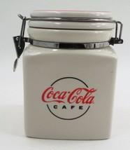 Retired 2000 Gibson Ceramic Coca Cola Cafe Retro Canister Jar w/ Locking... - $20.44