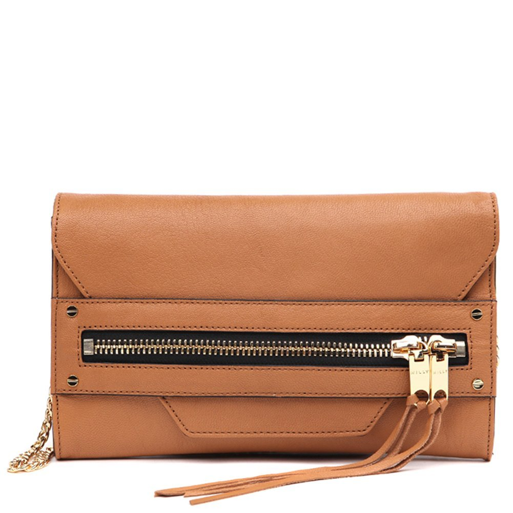 MILLY Women's Riley Clutch Handbag 65RC61153 Caramel