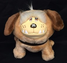 "Emotions Mattel Puppy Dog Vinyl Face 9"" Plush Peach Stuffed Animal Vinta... - $27.95"