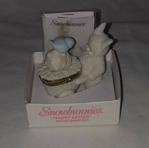 Department 56 Snowbunnies Happy Easter Bisque Hinged Box #26310 Retired - $19.79