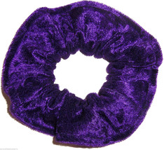 Purple Panne Velvet Hair Scrunchie Scrunchies by Sherry Ponytail Holder  - $6.99