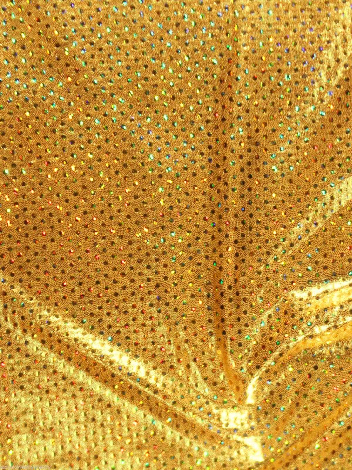 Gold Metallic Spandex Hair Scrunchie Scrunchies by Sherry Dancewear Swimwear  - $7.99