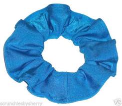 Turquoise Spandex Hair Scrunchie Scrunchies by Sherry Swimwear Dancewear - $6.99