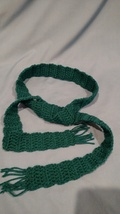 Dark Green Accent Scarf - $7.95