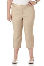 Rafaella Womens Size 6 Curvy Capri Dress Pants, Safari - $17.33