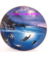 Dolphin Kisses Collectors Plate Bradford Exchange Ocean Sealife Retired - $59.95