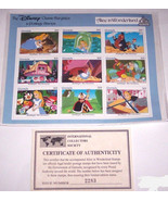 Disney Classic Fariytales in Postage Stamps Ali... - $39.95