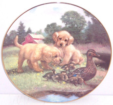 Dogs Ducks Farmyard Collector Plate Follow the... - $49.95