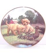Dogs Ducks Farmyard Collector Plate Follow the Leader Hamilton Animals  - $59.95
