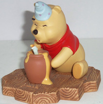 Disney Winnie Pooh Figurine Hip hip Poohray for Birthdays Hat Candle Hun... - $69.95