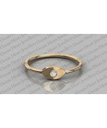 Certified 0.04Ct Natural Round Diamond Wedding Engagement Ring in 14K Gold  - $127.00