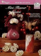 Mini Flower Vases TNS Plastic Canvas Pattern Leaflet NEW - $1.77
