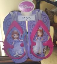 New w/ Tags Disney Toddler Girls sz M (5-6) Purple Sophia the First Flip... - $7.49