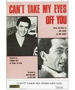 Cant Take My Eyes Off You Piano Sheet Music Bob Crewe Bob Gaudio Vintage... - $13.49