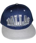 Dallas Men's Adjustable Flat Brim Snapback Baseball Cap Hat Navy Blue/Gray  - $9.95