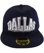 Dallas Men's Adjustable Flat Brim Snapback Baseball Cap Hat NAVY BLUE - $9.95