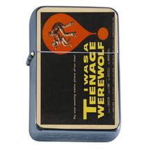 Vintage Poster D174 Flip Top Oil Lighter Wind Resistant Flame Teenage Werewolf - $12.82