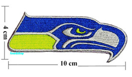 Seattle Seahawks  Iron On Patch. - $2.00
