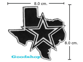 DALLAS cowboy star   Iron On Patch. - $2.00