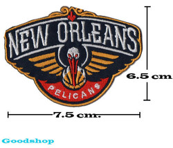 New Orleans Pelicans Basketball   Iron On Patch. - $2.00