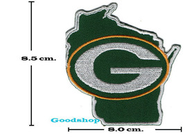 Map Green Bay Packers  Iron On Patch. - $2.00