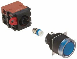 Omron A22L-GA-24A-11M Full Guard Type Pushbutton and Switch, Screw Terminal, LED - $52.35