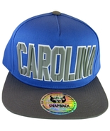 North Carolina Block Lettering Men's Adjustable Snapback Baseball Cap Bl... - $17.95
