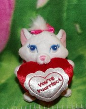 """Disney Aristocats Plush 6"""" MARIE Holds Valentine Every Day You're Purrfe... - $8.99"""