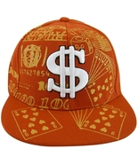 Dollar Sign $ Gold Leaf Bling Men's Adjustable Snapback Baseball Cap RED - $11.95