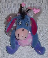"Disney Winnie Pooh EEYORE Plush 7"" LoveBug with Pink Heart Accent Sheer ... - $8.99"