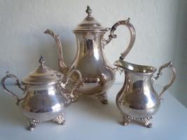 Gorham Duchess 3 pc coffee set silverplate - $29.69