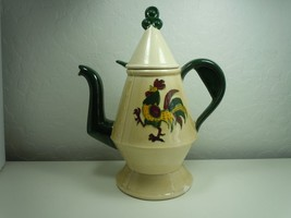 Metlox Poppytail California Provincial coffee Pot and Lid Damaged - $9.89