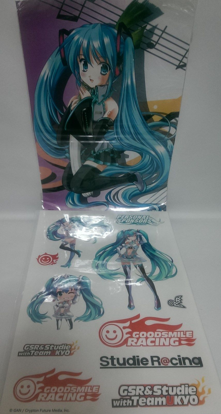 Hatsune Miku Big Sticker Gsr Figma 2012 And 50 Similar Items Figure Spring Clothes Taito Bonus Poster