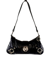 Guess Faux Leather Snake Accent Turnlock Baguette Mini Shoulder Bag FREE... - $21.78
