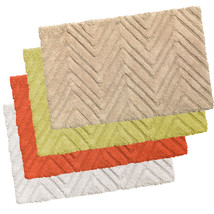 "100% Cotton Bath Bathroom Rug Mat Chevron Pattern 21""x34"" - $26.99"
