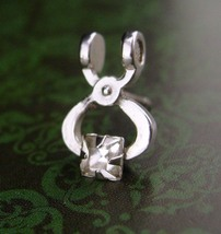 Bartender tie tack / Silver ice tongs / rhinestone tongs / Wedding novelty / Bar - $75.00