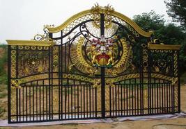 ELEGANT PALATIAL GRAND ORNATE LIONS ENTRANCE GATE,17'FT WIDE X 10.5'FT TALL - $15,000.00