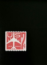 1959 7c Jet Silhouette, Carmine Coil, Air Mail Scott C61 Mint F/VF NH - $3.54