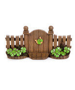 Miniature Fairy Garden St Patricks Day Gate Lucky Horseshoe Shamrock Dec... - $12.95