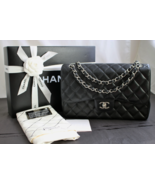 CHANEL JUMBO BLACK Quilted CAVIAR Leather Class... - $4,828.00
